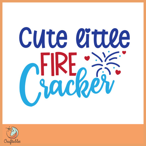 Free Cute Little Firecracker SVG Cut File