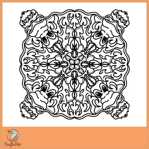 Free Dragon Mandala SVG Cut File