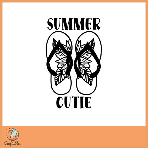 Free Summer Cutie SVG Cut File
