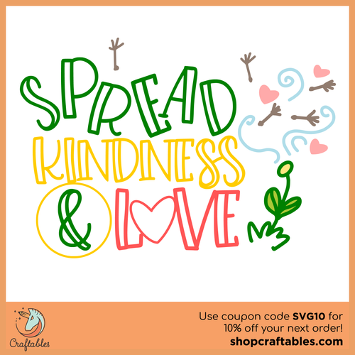 Free Spread Kindness and Love SVG Cut File