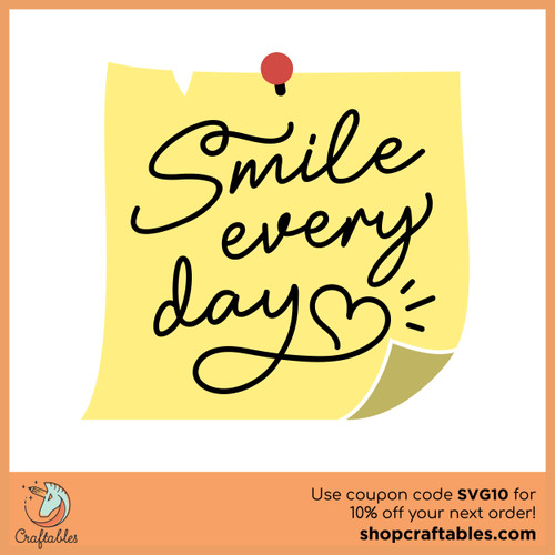 Free Smile Every Day SVG Cut File