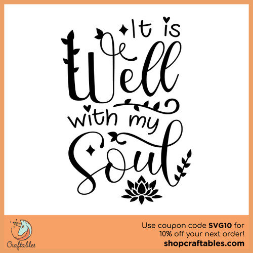 Free It is Well With My Soul SVG Cut File