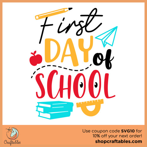 Free First Day of School SVG Cut File