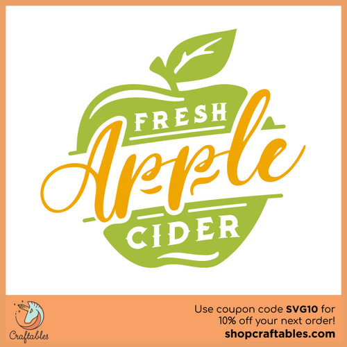 Free Fresh Apple Cider SVG Cut File