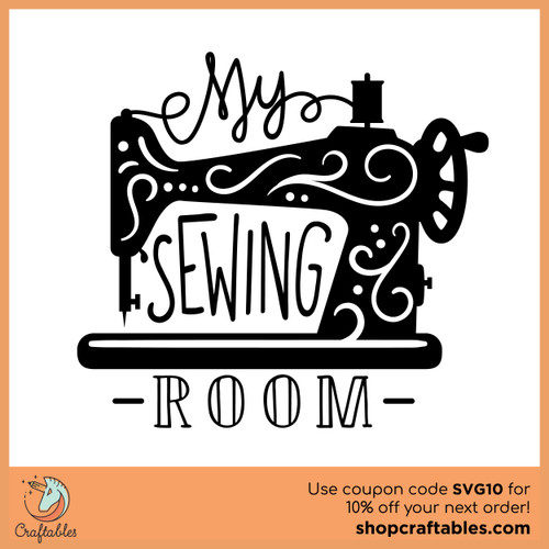Free My Sewing Room SVG Cut File
