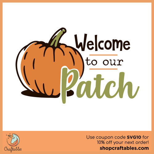 Free Welcome to Our Patch SVG Cut File