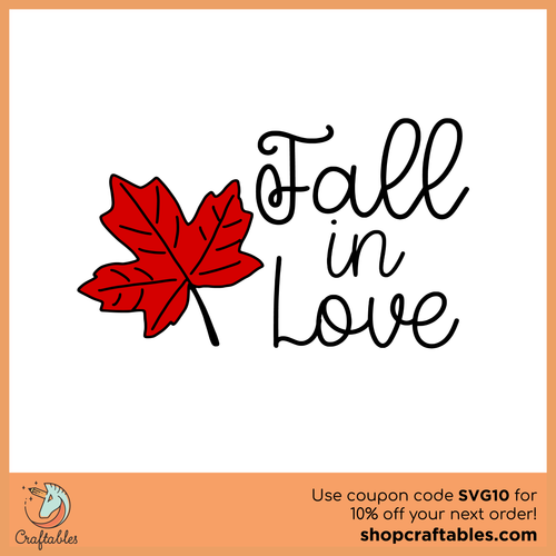 Free Fall in Love SVG Cut File