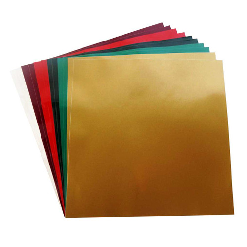 "Christmas Pack of Permanent Adhesive Vinyl | (12) 12"" x 12"" Sheets - Christmas Vinyl Colors"