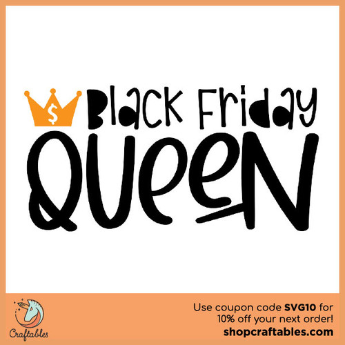 Free Black Friday Queen SVG Cut File