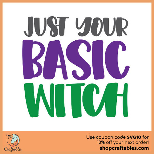 Free Just Your Basic witch SVG Cut File