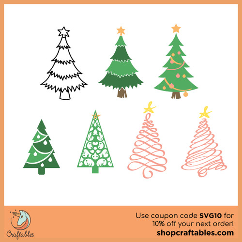 Free Christmas Trees SVG Cut File