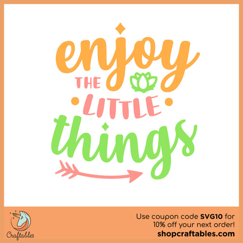 Free Enjoy The Little Things SVG Cut File