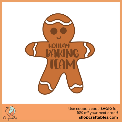 Free Holiday Baking Team SVG Cut File