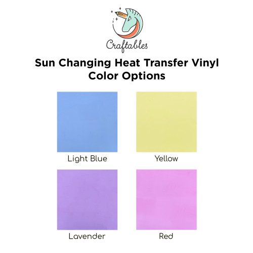 Craftables Light Sensitive Color Changing Iron On Vinyl Color Chart