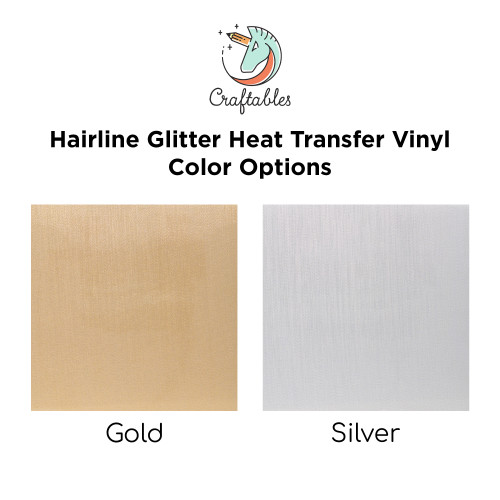 Craftables Hairline Glitter Iron On Vinyl Color Chart