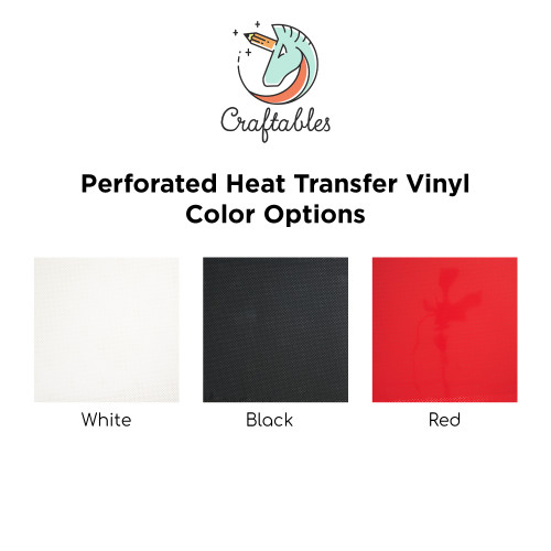Craftables Perforated Smooth Iron On Vinyl Color Chart