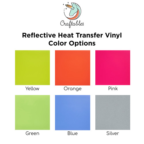 Craftables Reflective Iron On Vinyl Color Chart