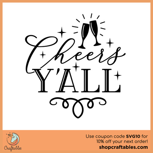 Free Cheers Y'all SVG Cut File