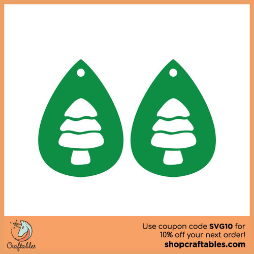 Free Christmas Tree Earrings SVG Cut File