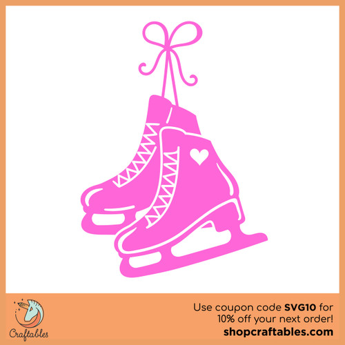 Free Figure Skates SVG Cut File