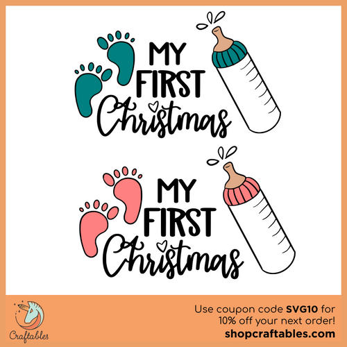 Free My First Christmas SVG Cut File