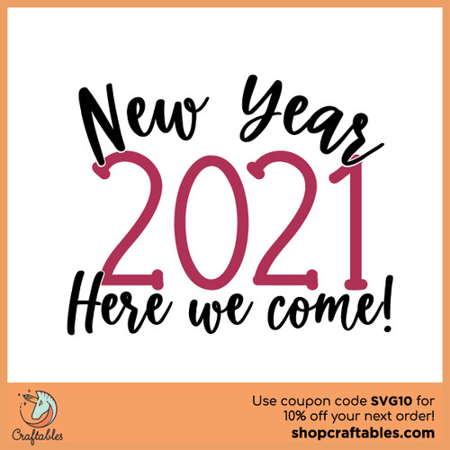 Free New Year 2021 SVG Cut File