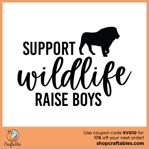 Free Support Wildlife Raise Boys SVG Cut File