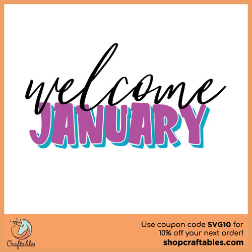 Free Welcome January SVG Cut File