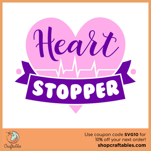 Free Heart Stopper SVG Cut File
