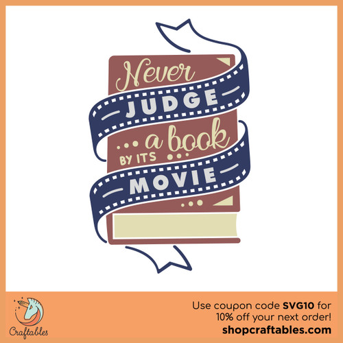 Free Don't Judge a Book by its Movie SVG Cut File