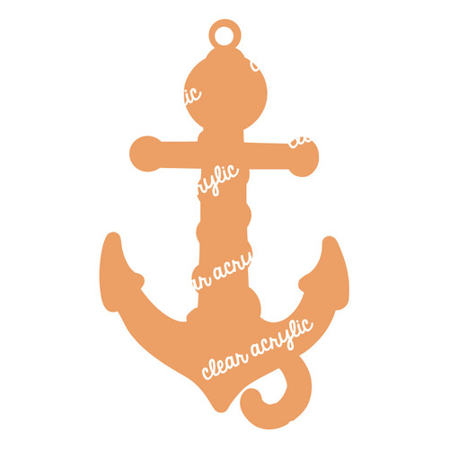 Anchor Acrylic Blank for Keychains