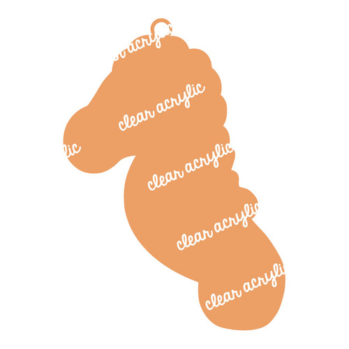 Seahorse Acrylic Blank for Keychains