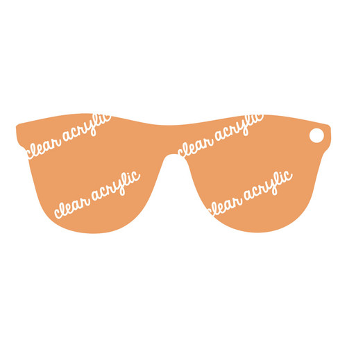 Sunglasses Acrylic Blank for Keychains