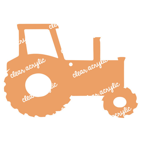 Tractor Acrylic Blank for Keychains
