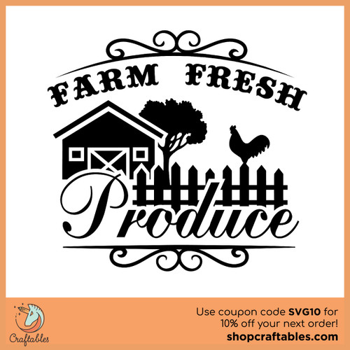 Farm Fresh Produce Free SVG Cut File