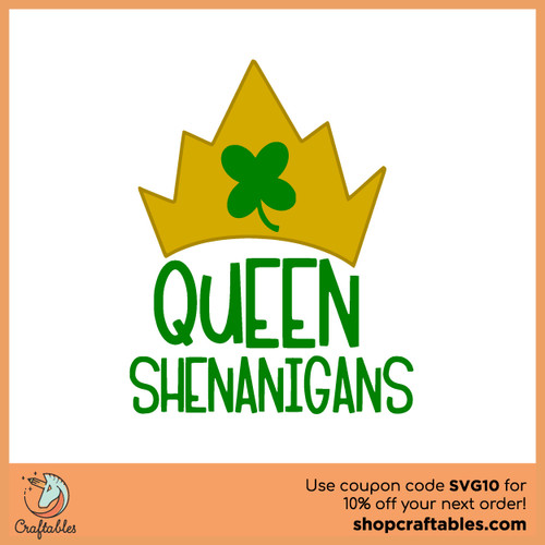 Queen Shenanigans Free SVG Cut File