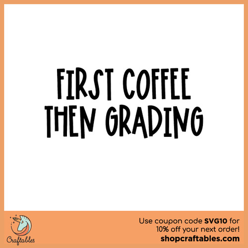 Free First Coffee SVG Cut File