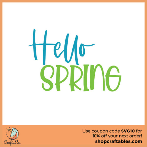 Free Hello Spring 2021 SVG Cut File