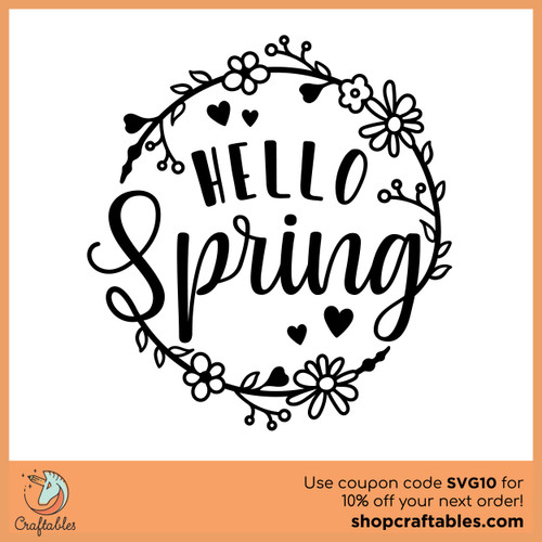 Free Hello Spring 2 SVG Cut File
