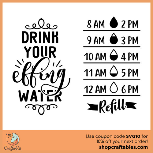 Free Water Bottle Decal Cut File