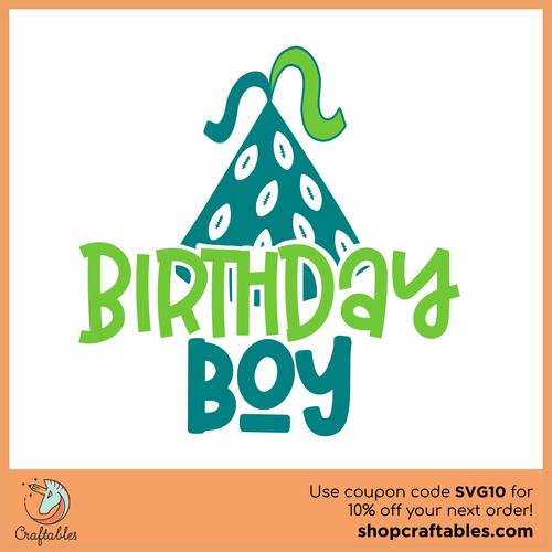 Free Birthday Boy 2 Cut File