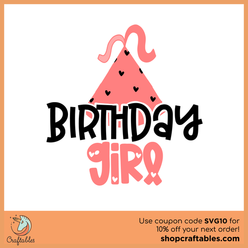 Free Birthday Girl 2 Cut File