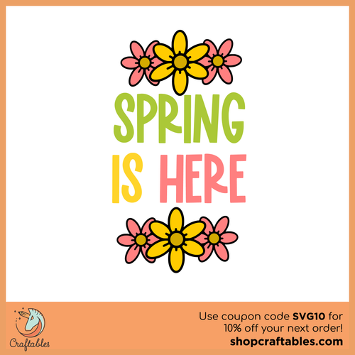 Free Spring is Here Chick Cut File