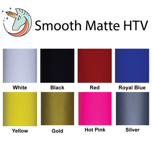 Smooth Matte Iron On Vinyl Sheets | Heat Transfer Vinyl Sheets For Cricut By Craftables