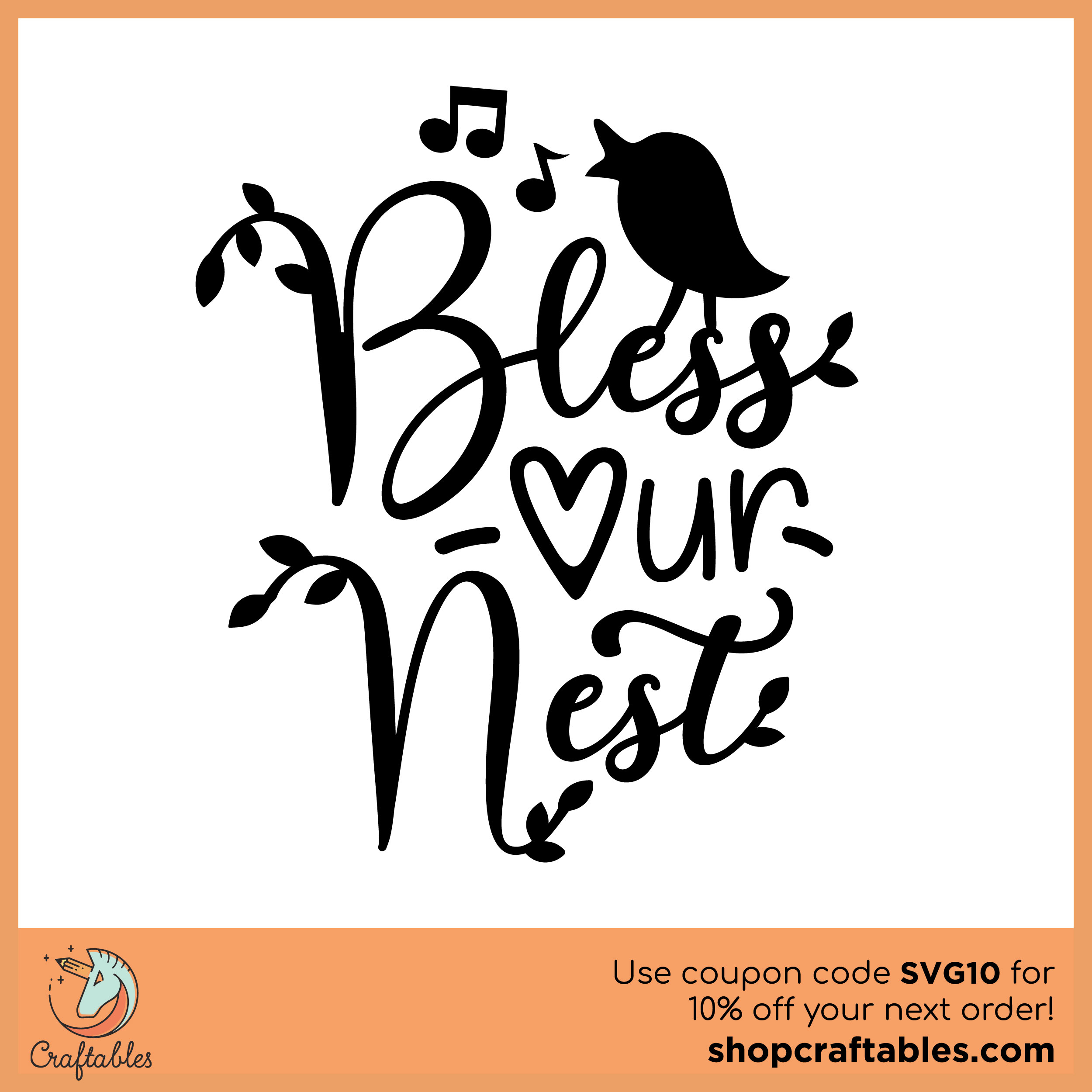 Free Bless Our Nest Svg Cut File Craftables