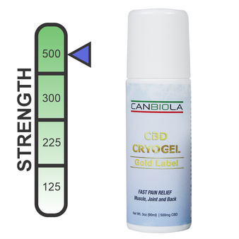 Canbiola CryoGel Gold Label - 500mg/3oz (90ml)