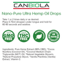 Canbiola Hemp Extract Nano Drops - 500mg/1oz (30ml)