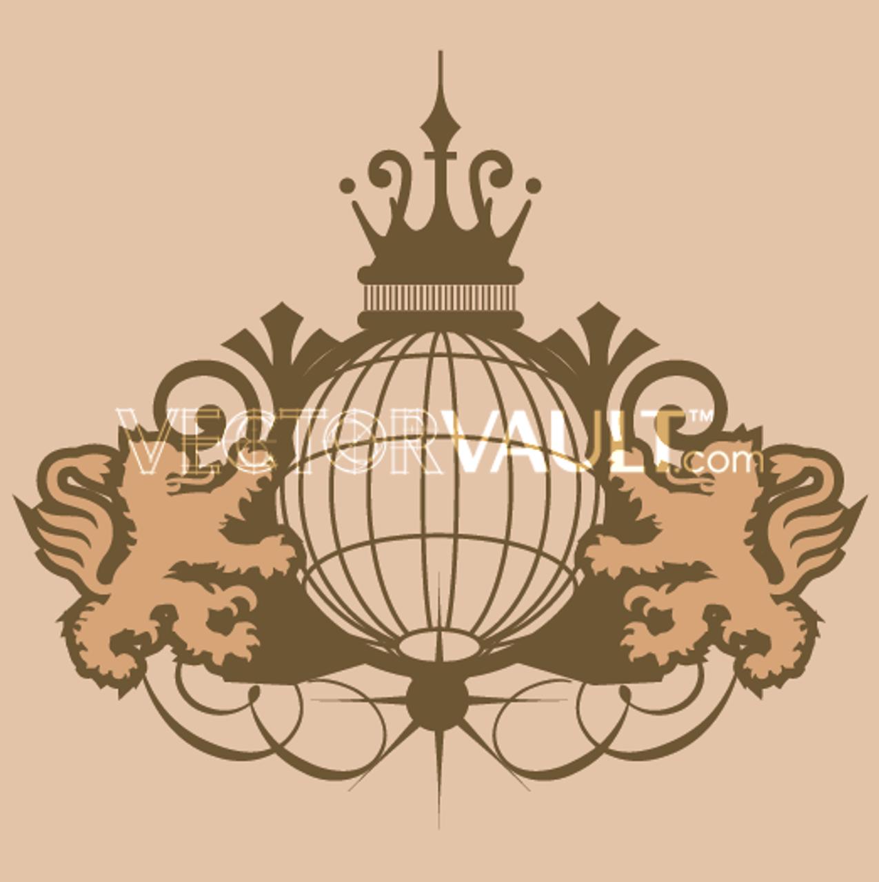 buy vector globe emblem royal icon logo graphic royalty-free vectors  buy vector art - vectorvault