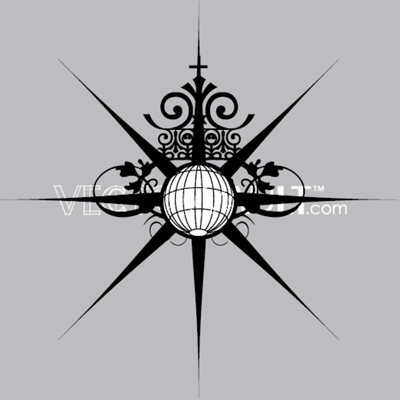 buy vector globe burst icon logo graphic royalty-free vectors  buy vector art - vectorvault