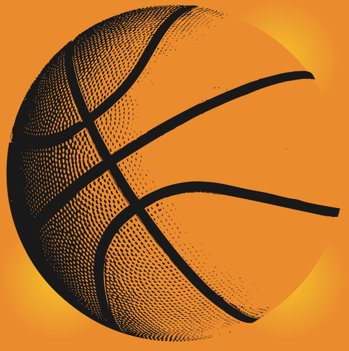 vector basketball illustration royalty-free vectors